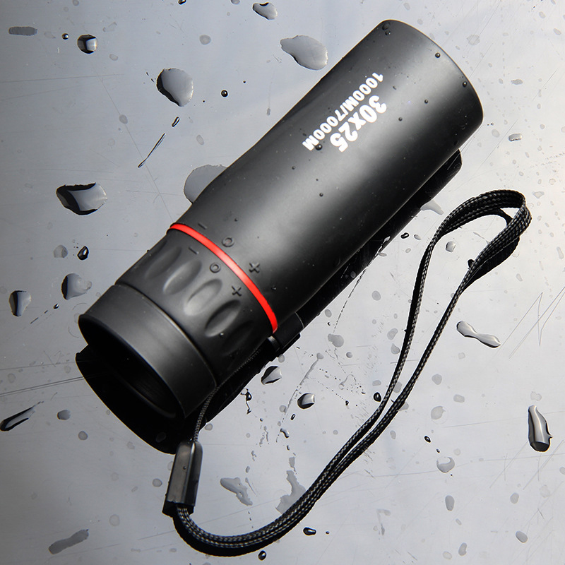 Image 2 - HD Optical 30 x 25 Monocular Zoom Telescope Low Night Vision Waterproof Mini Portable 7X Focus Telescope for Travel Hunting-in Monocular/Binoculars from Sports & Entertainment