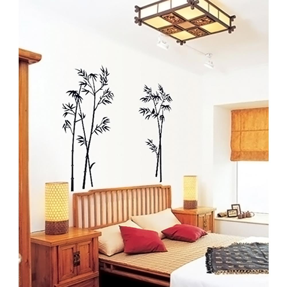 New Bamboo Mural Craft Art Black Wall Sticker Decals Home Decoration ...