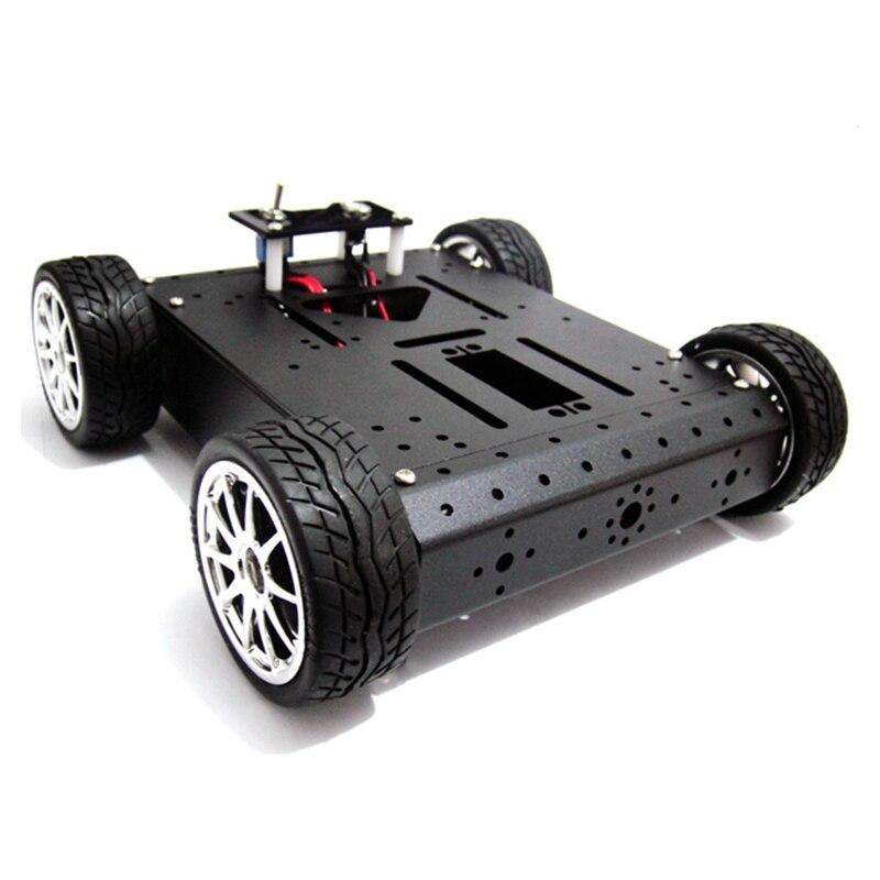 4WD robot mobilny platformy ze stopu aluminium ze stopu aluminium (12 V/200R metalowy elektryczny) elektroniczny konkursu w Części i akcesoria od Zabawki i hobby na AliExpress - 11.11_Double 11Singles' Day 1