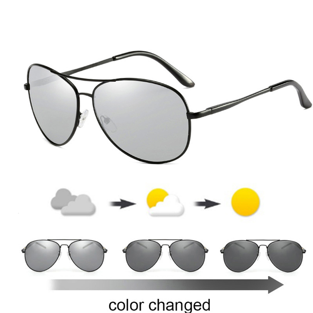 2018 new Driving Photochromic Sunglasses Men Polarized Chameleon  Discoloration Sun glasses for men oculos de sol masculino 77e91382dc