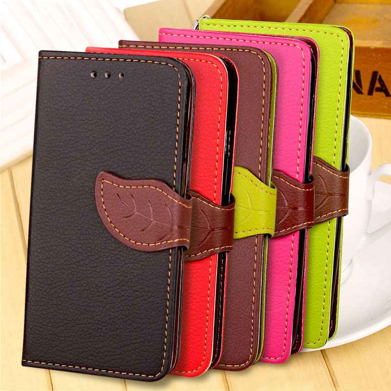 Luxury Stand Flip Leather Mobile Case For LG Q7 Q6 cell Phone