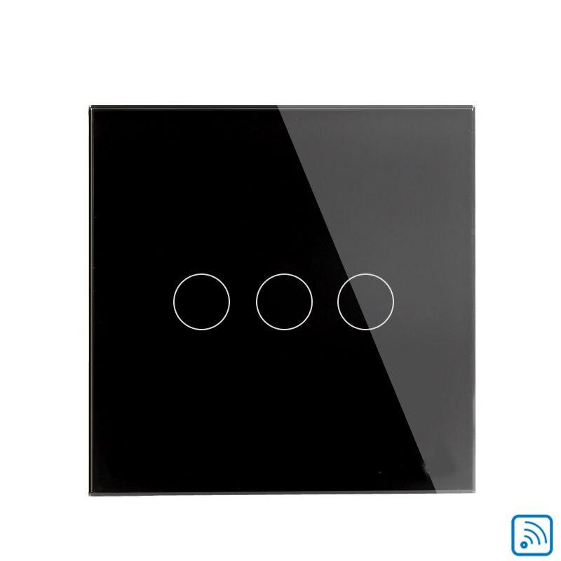 domótica luz de interruptor de pared del zócalo de LA UE 3 gang inteligente pan