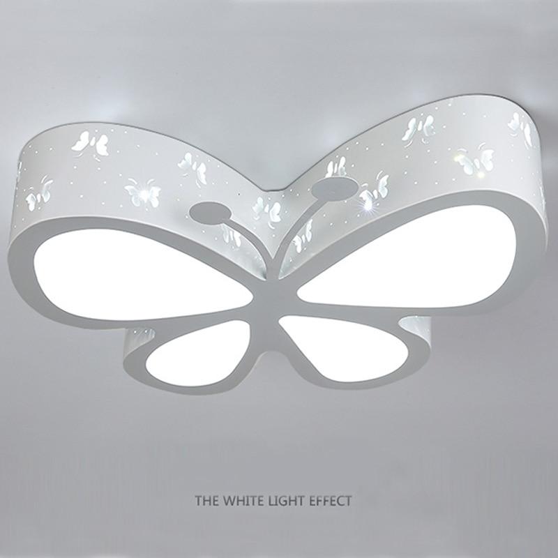 Modern Butterfly Ceiling Lamp E27 Bulb Children Bedroom