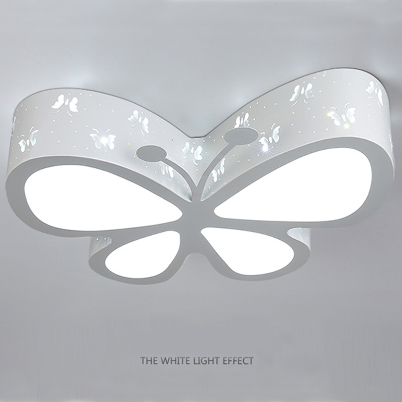 Weihnachtsbeleuchtung Wohnzimmer.Us 139 99 Moderne Schmetterling Deckenleuchte E27 Kinder Schlafzimmer Unterputz Licht Schöne Junge Mädchen Wohnzimmer Cartoon