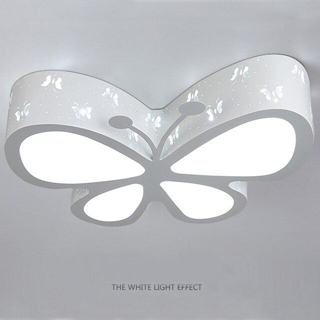 Moderne Weihnachtsbeleuchtung.Us 139 99 Moderne Schmetterling Deckenleuchte E27 Kinder Schlafzimmer Unterputz Licht Schöne Junge Mädchen Wohnzimmer Cartoon