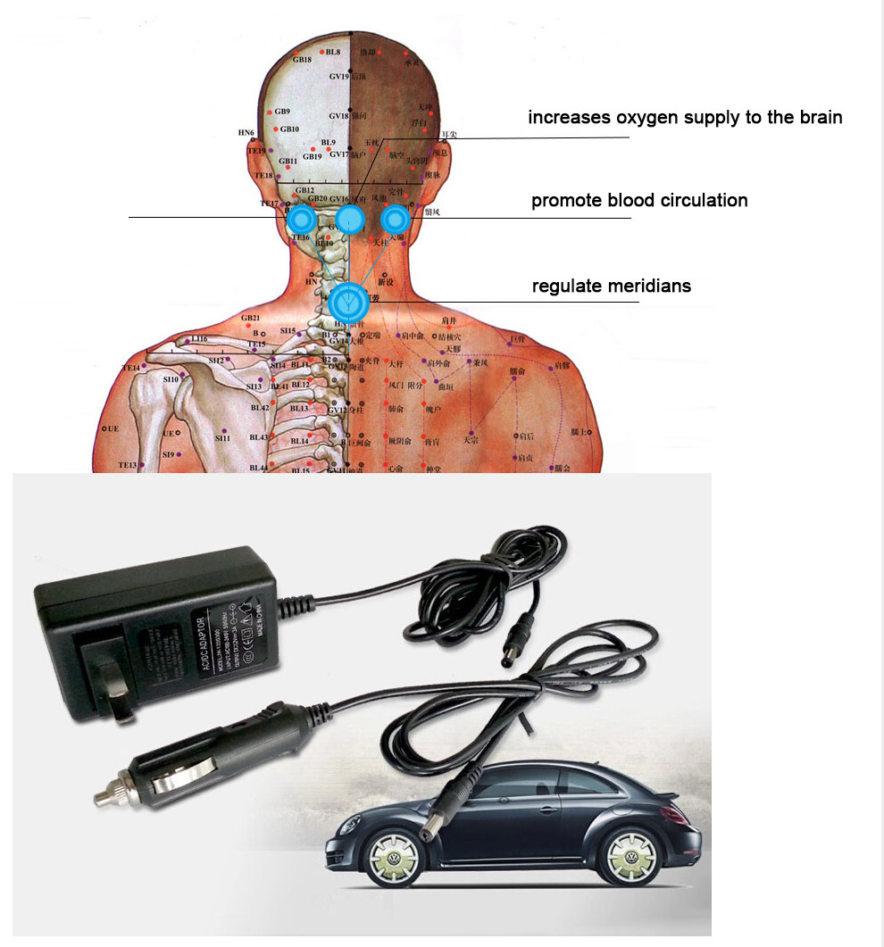 HOT! Multifunction Infrared Body Health Care Equipment Car Home Acupuncture Kneading Neck Shoulder Cellulite Massager 14