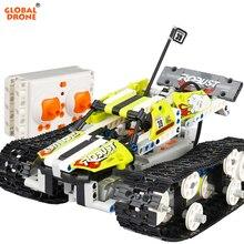 Глобальный Drone строительные блоки Р/У танки трансформации конструктор удаленного Управление Танк робот подарки игрушки для мальчиков