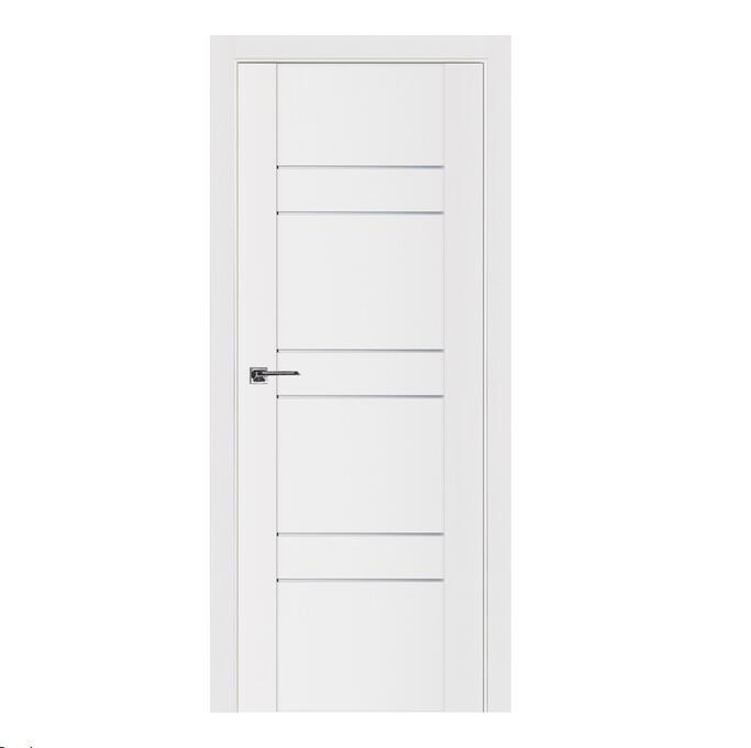 New Design Contemporary Solid Wood Door Slab Lacquered Enamel Modern Interior Door Shaker H1905