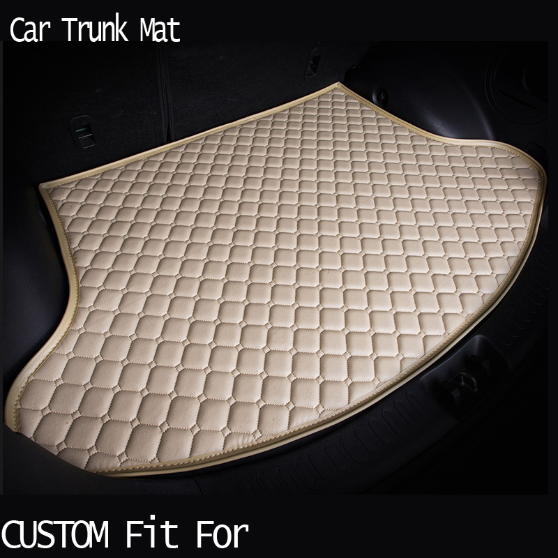 free shippingCustom fit car trunk mat for  Audi A1 A4 A6 A7 A8 Q3 Q5 Q7 TT  carpet cargo liner travel non-slip for four season custom fit pu leather car trunk mat cargo mat for audi a6 c7 2011 2012 2013 2014 2015 2016 2017 allroad avant 5d cargo liner