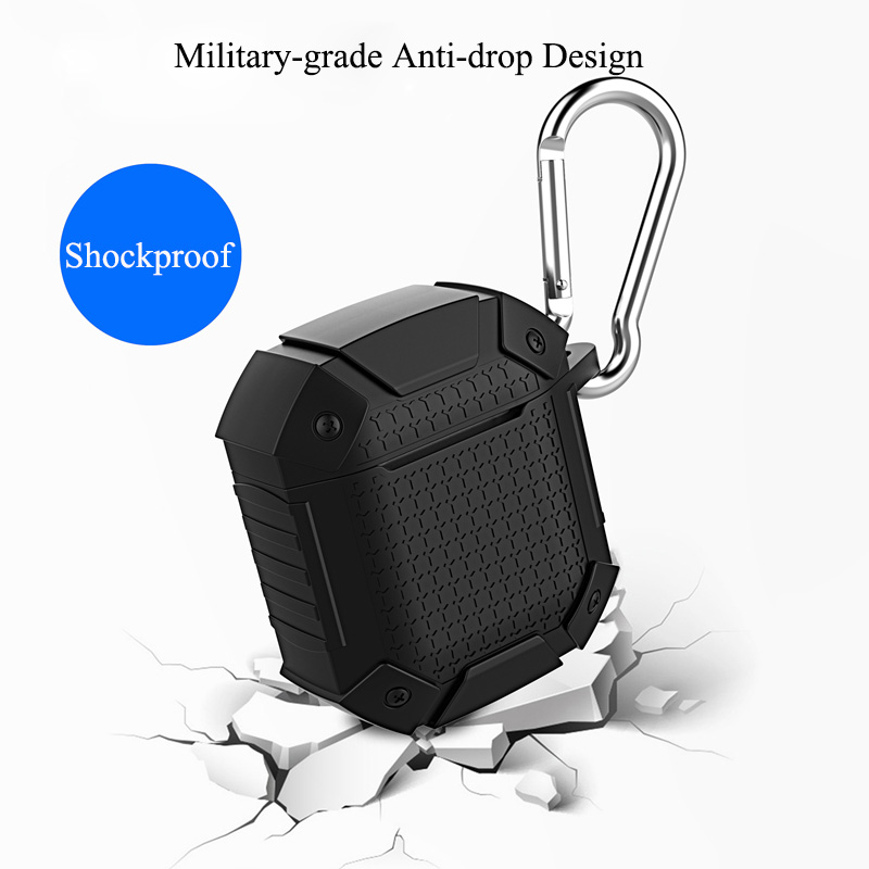 Heavy Duty Shockproof Earphone Case For Airpods 1 2 Case Cover Armor Soft TPU Full Protective Case For Airpods Case Soft Cover
