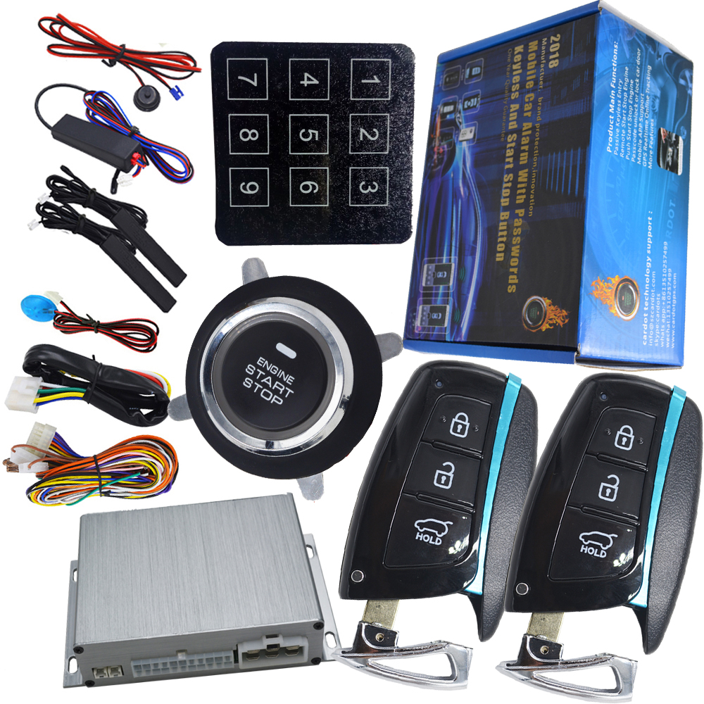car auto engine start stop button smart key alarm security keyless entry passwords emergency keyless protection car auto engine start stop button smart key alarm security keyless entry lock or unlock by passwords pke auto central lock car