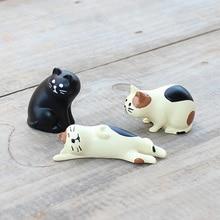 Japan Kazza Decole Cat Miniature figurine Animal statue Home Decoration Mini Fairy Garden Resin craft toy gift Bonsai Ornament