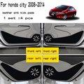4 шт.  Кожаный Автомобильный Стайлинг  антиударный коврик для дверей  аксессуары для Honda City Grace 2008 2009 2010 2011 2012 2013 2014