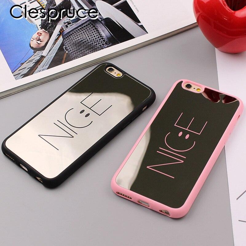 Fashion Cartoon Nice Mirror Case For iphone 7 7plus 6 6S
