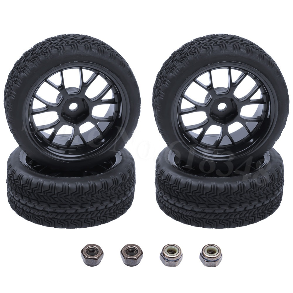 4 Unids / lote RC 1/10 En Llantas y Llantas de Carretera Hexagonal Completo 12mm Diámetro: 63mm Ancho: 26mm Para HSP HPI Himoto Redcat Model Car Touring