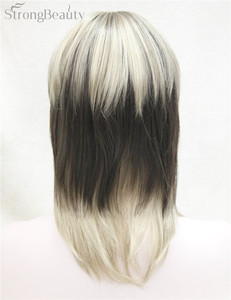 Image 3 - Strong Beauty Synthetic Wigs Medium Long Straight Ombre Womens Wig With Bangs