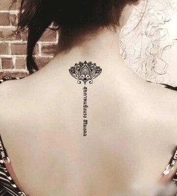 ᗜ ljwodoodporna Tymczasowy Tatuaż Tatuaż Henną Fałszywe