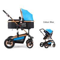 2015 роскошные Детские коляски 3 в 1, шесть цветов четыре колеса одно место, модный стиль, складная коляска, коляска сумка,