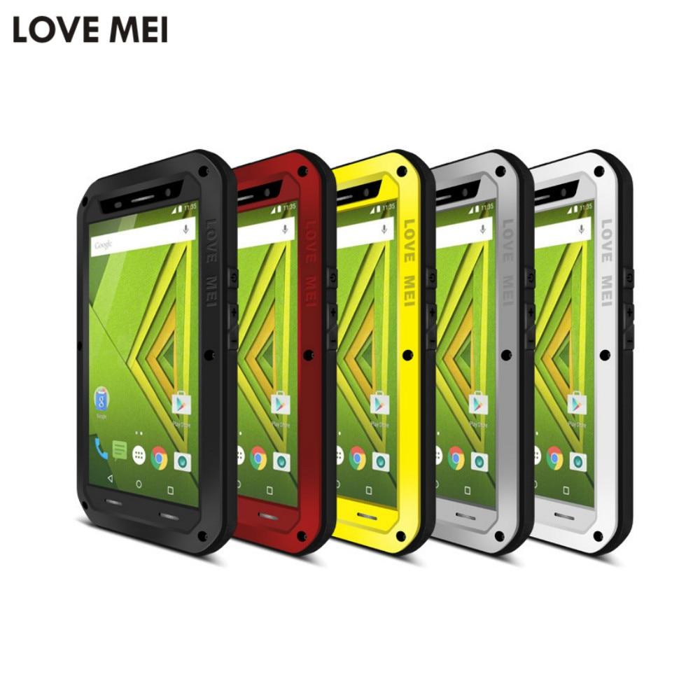 imágenes para Amor Mei Caso Impermeable para Motorola Moto X Juego de Metal De Aluminio cubierta de la Caja Del Teléfono Para Moto X Juego + Templado Gorilla Glass