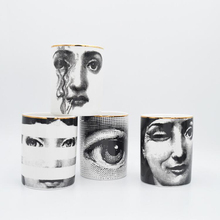 Fornazetti Подсвечник Классический Стиль Йога комната декоративная керамика свеча банка ваза Лиза лицо чашки держатель ручки