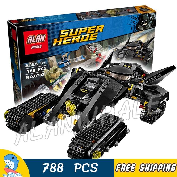 788 pièces Super héros Batman film tueur Croc égout Smash Bat Tank 07037 modèle blocs de construction jouets briques compatibles avec Lego