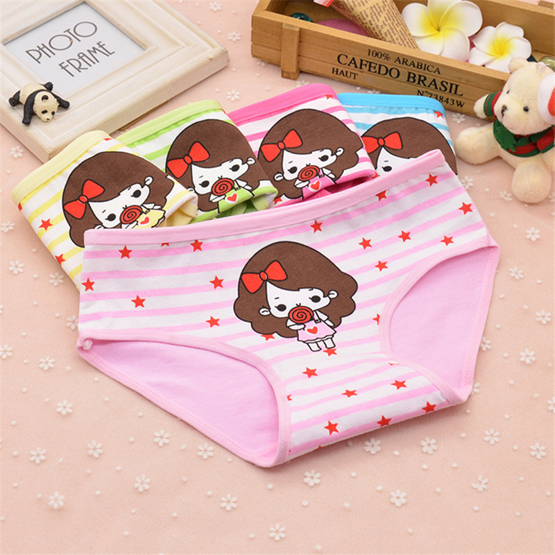1 pcs 100% Cotton Kids Panties Baby Girls Cute Underwear Children Everyday Short Briefs Girls Cartoon shorts Underpants 2-10T