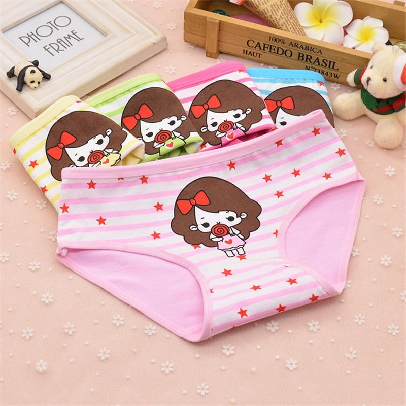 1 pcs 100% Cotton Kids Panties Baby Girls Cute Underwear Children Everyday Short Briefs Girls Cartoon shorts Underpants 2-12T