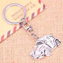 20pcs Fashion Keychain 39*26 mm car vw bug beetle herbie Pendants DIY Men Jewelry Car Key Chain Ring Holder Souvenir For Gift