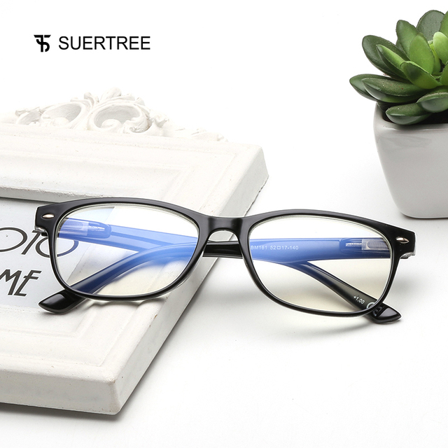 SUERTREE Reading Glasses Anti Blue Ray Women Men Ultralight Presbyopia Glasses HD Diopter Lens Comfort Reading Eyewear BM161