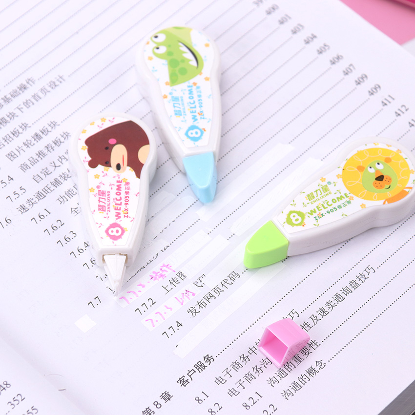 1PC New Kawaii Cartoon Type Child Learning Correction Tape Diary Stationery School Office Supply
