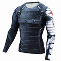 Novo Superman Superhero Winter Soldier Bucky Anime 3D T Shirt T-Shirt de Manga Comprida Camisa De Compressão Homens Fitness Crossfit