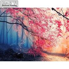 Алмазная живопись «сделай сам» вышивка крестиком красные осенние