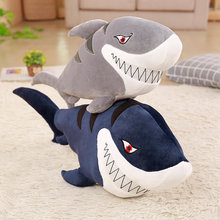 New 55-120cm Giant Funny Bite Shark Plush Toy Soft Appease Cushion Gift For Children Girls Animal Doll Pillow Baby Gift(China)