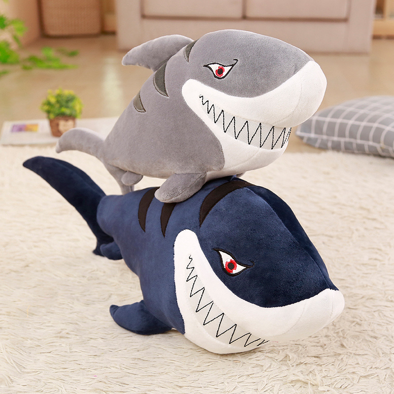 New 55-120cm Giant Funny Bite Shark Plush Toy Soft Appease Cushion Gift For Children Girls Animal Doll Pillow Baby Gift