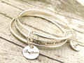 Custom Personalised- Engrave Name Bracelet ,Personalized Silver Bangle Signature Jewellery Mom Bracelet, Child Name Bracelet
