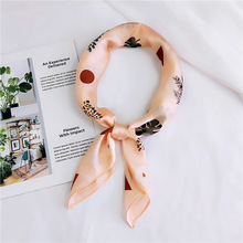 Small Square Satin Scarves Artifical Silk Scarf Foulard Femme Elegant Women Wrap Handkerchief Bandana Accessories 70*70cm