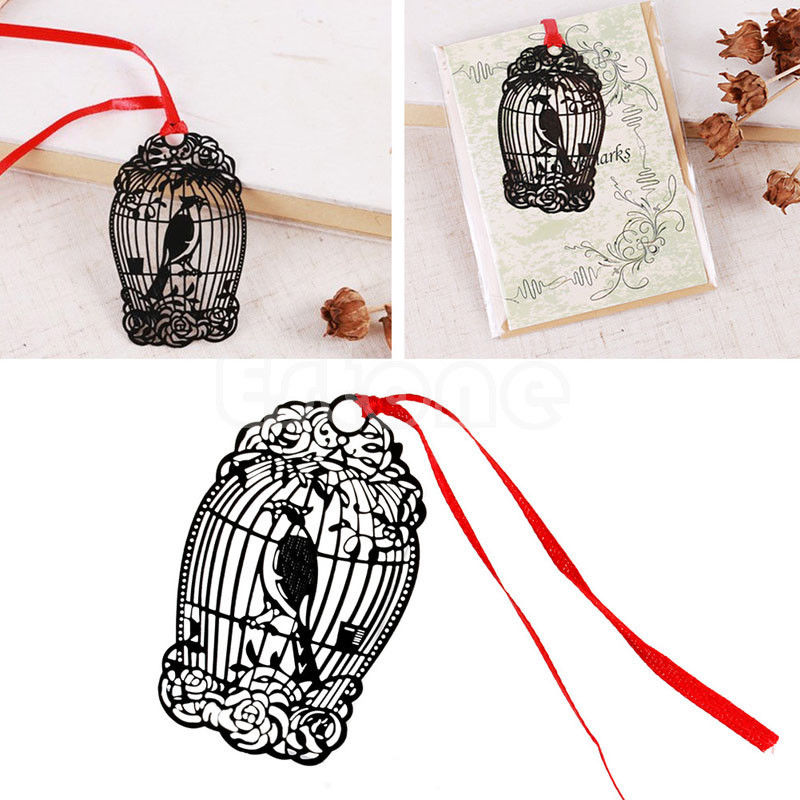 Retro Metal Bookmark Bird Creative Gift Book Magazine Label Mark Kid Reading D14 ...