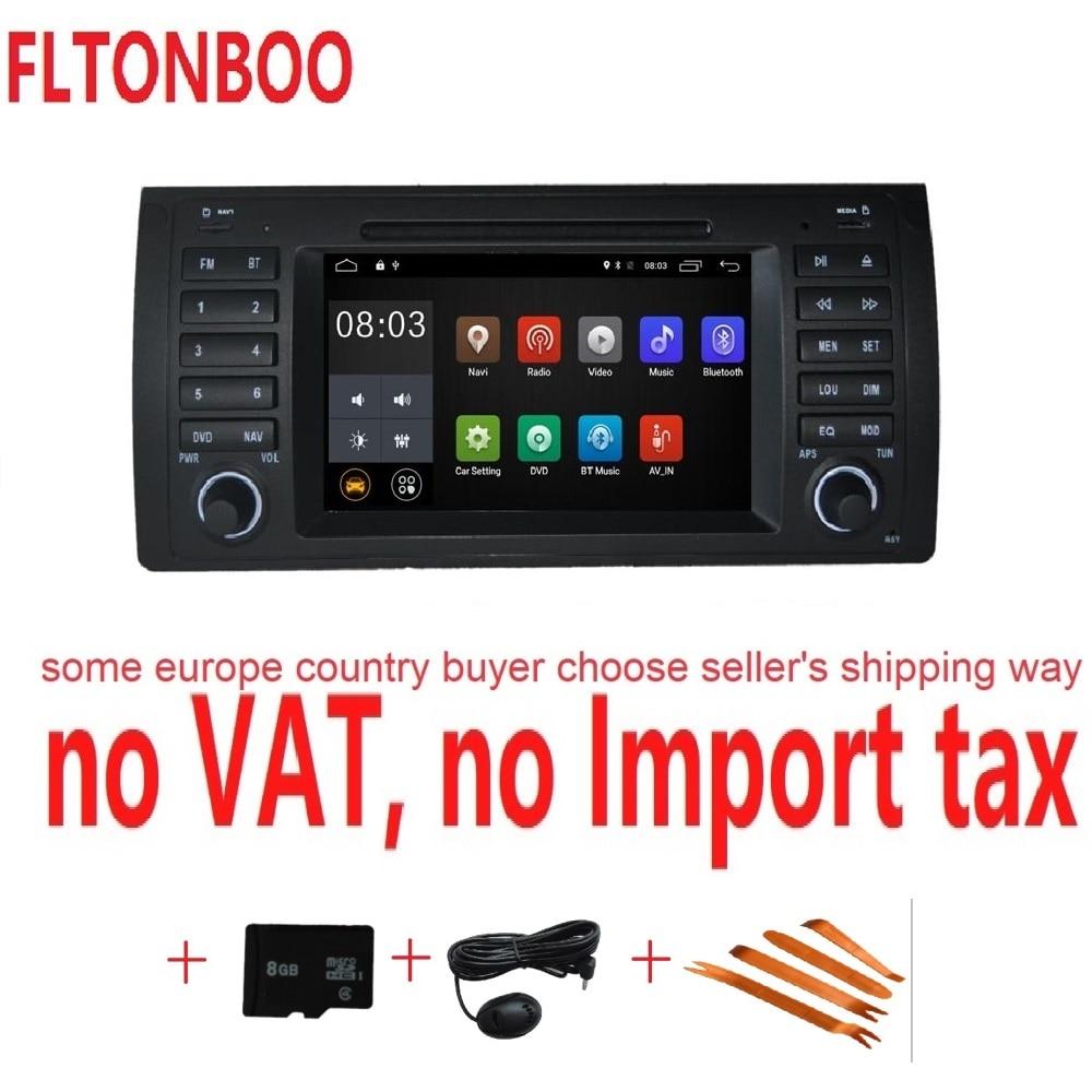 Android 7.1 pour bmw E39, X5, M5, E53 voiture dvd, gps, wifi, radio, bluetooth, volant Sans Canbus 8g carte micro, écran tactile