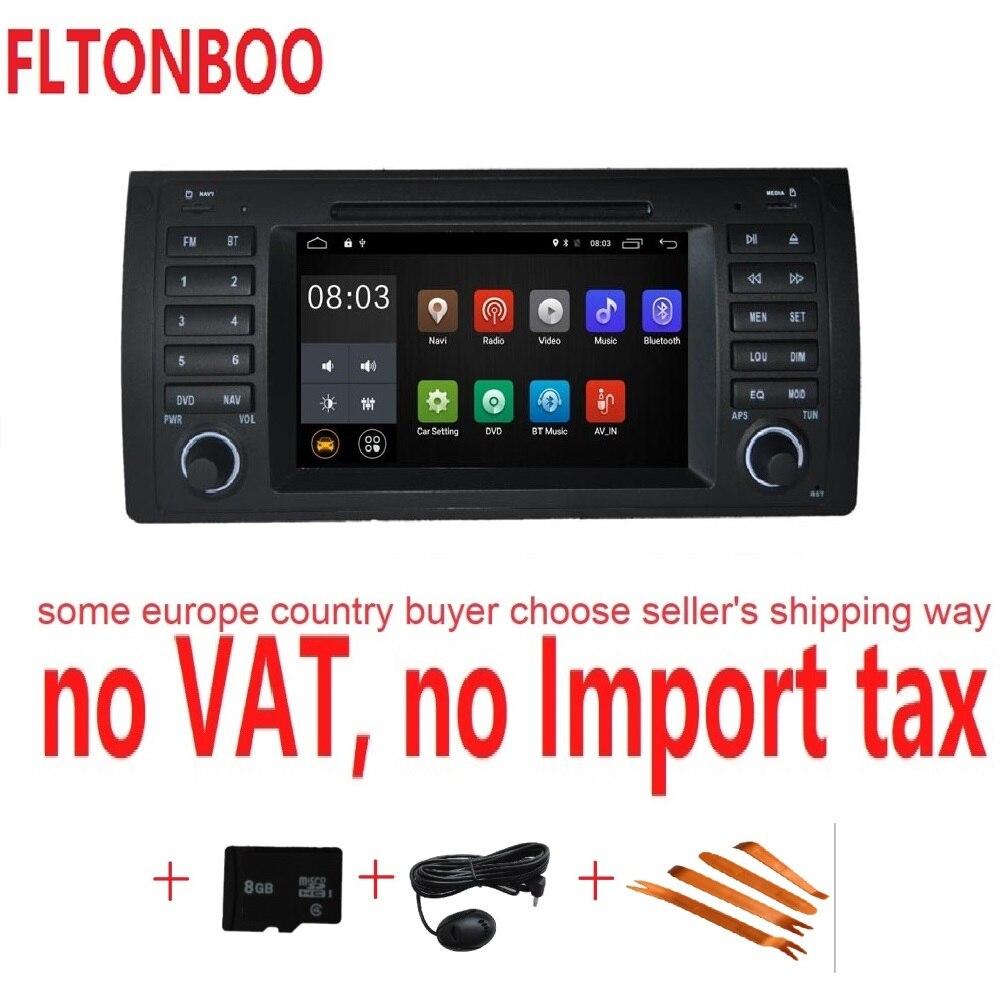Android 7.1 pour bmw E39, X5, M5, E53 voiture dvd, navigation gps, wifi, radio, bluetooth, volant Canbus Livraison 8g carte, micro, écran tactile