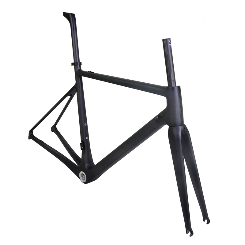 2021 New Carbon Road Bike Frame Cycling Bicycle Racing Bike Frameset Can Ems Dpd Fork Seatpost Clamp Headset BSA/BB30/PF30