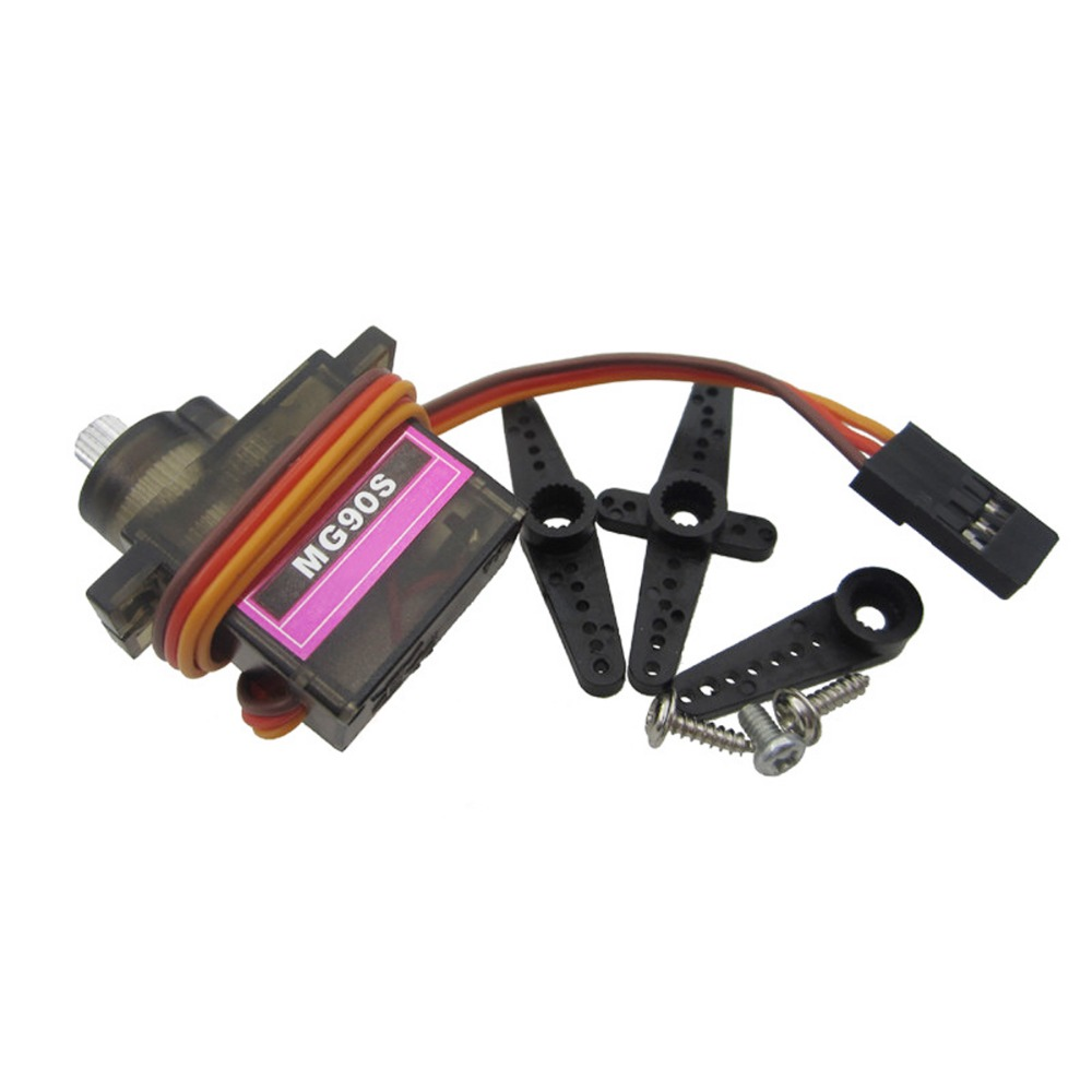 1PCS gear Digital MG90S 9g Servo Upgraded SG90 For Rc Helicopter plane boat car MG90 9G 1pcs jx pdi 6221mg 20kg large torque digital coreless servo for rc car crawler rc boat helicopter rc model