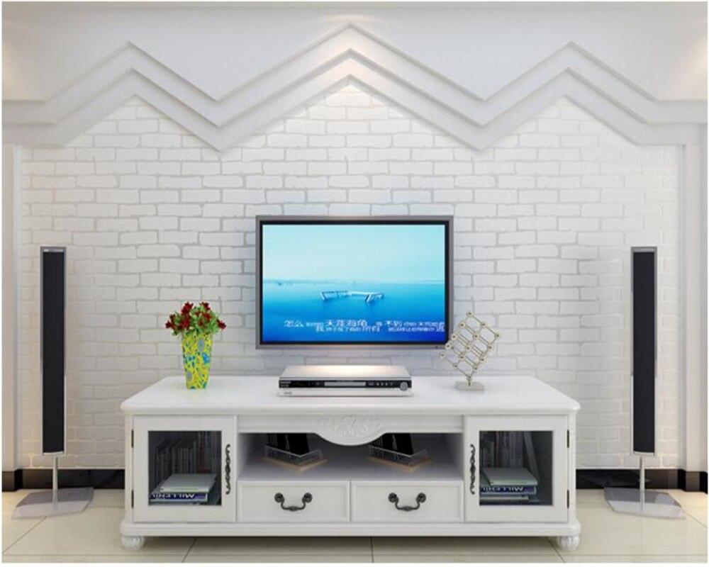 beibehang 3D imitation brick pattern nonwoven 3d wallpaper blue brick white Mediterranean wallpaper papel de parede wall paper beibehang blue brick mediterranean style