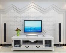 beibehang 3D imitation brick pattern non - woven 3d wallpaper blue white Mediterranean papel de parede
