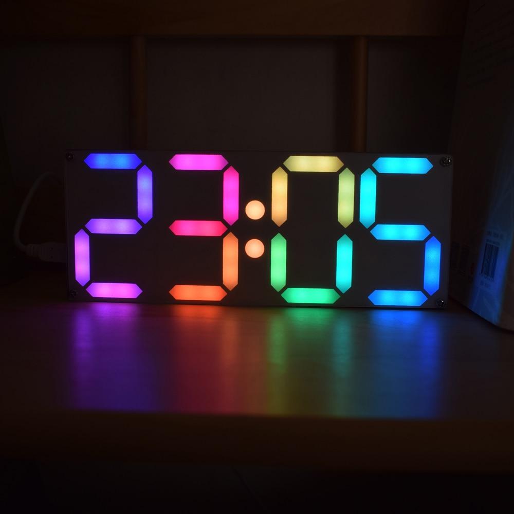 Large Size Rainbow Color Digital Tube DS3231 Clock DIY Module Kit