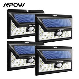 Image 1 - Mpow CD013 רחב זווית 24 LED אורות שמש Motion חיישן אור עבור פטיו גן חצר קיר תאורת חיסכון באנרגיה outroor מנורות