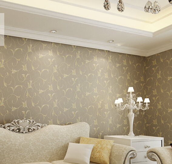 ФОТО 2016 new rural hot sweet bedroom wallpaper Contracted non-woven wall paper sitting room wall paper study Chinese trumpet creeper