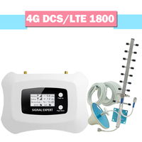 4G LTE DCS 1800 Cellular Signal Amplifier 70dB Gain LCD Display GSM Signal Repeater Band 3 4G LTE Cellphone Signal Booster Set//