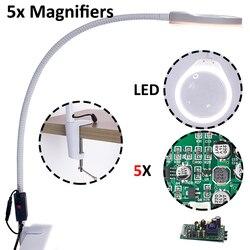 5X większa lampa lupa z podświetleniem ekran telefonu komórkowego lupa do czytania obiektywu mobile smartphone jubiler lupa