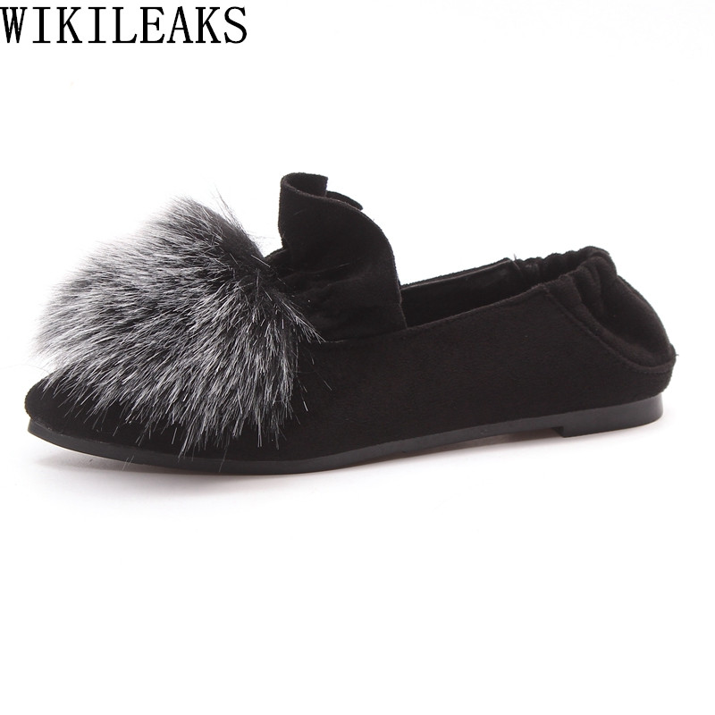 2017 ladies shoes women loafers breathable ruffles sapato feminino luxury brand flat shoes women fur casual shoes zapatos mujer new designer women fur flats luxury brand slip on loafers zapatillas mujer casual ladies shoes pointed toe sapato feminino black
