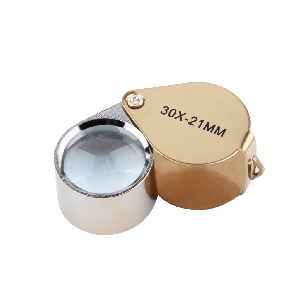 2017 portable 30x power 21mm jewelers magnifier gold eye